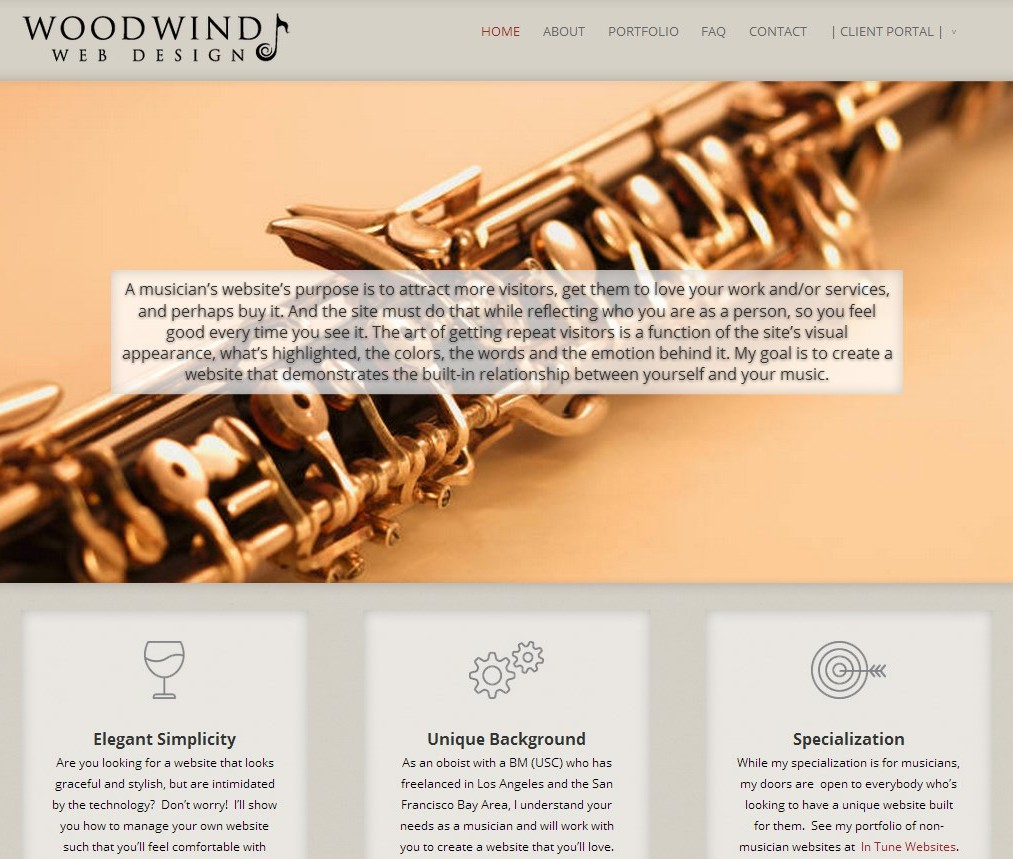 Woodwind Web Design